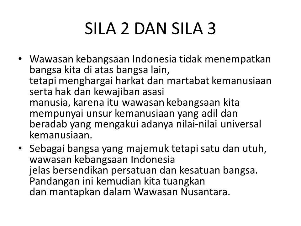 SILA 2 DAN SILA 3