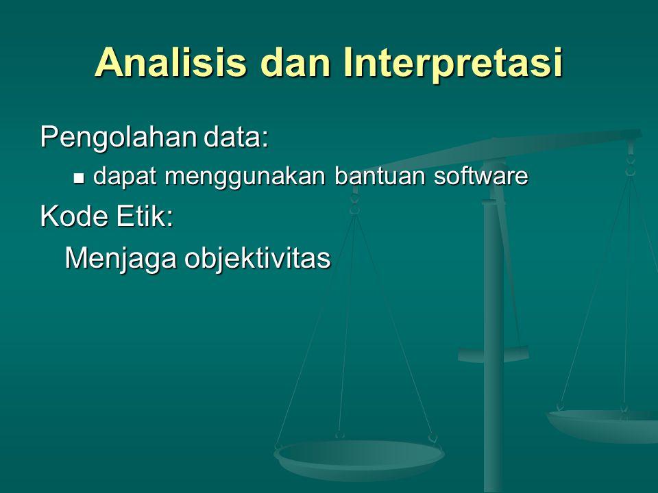 Analisis dan Interpretasi