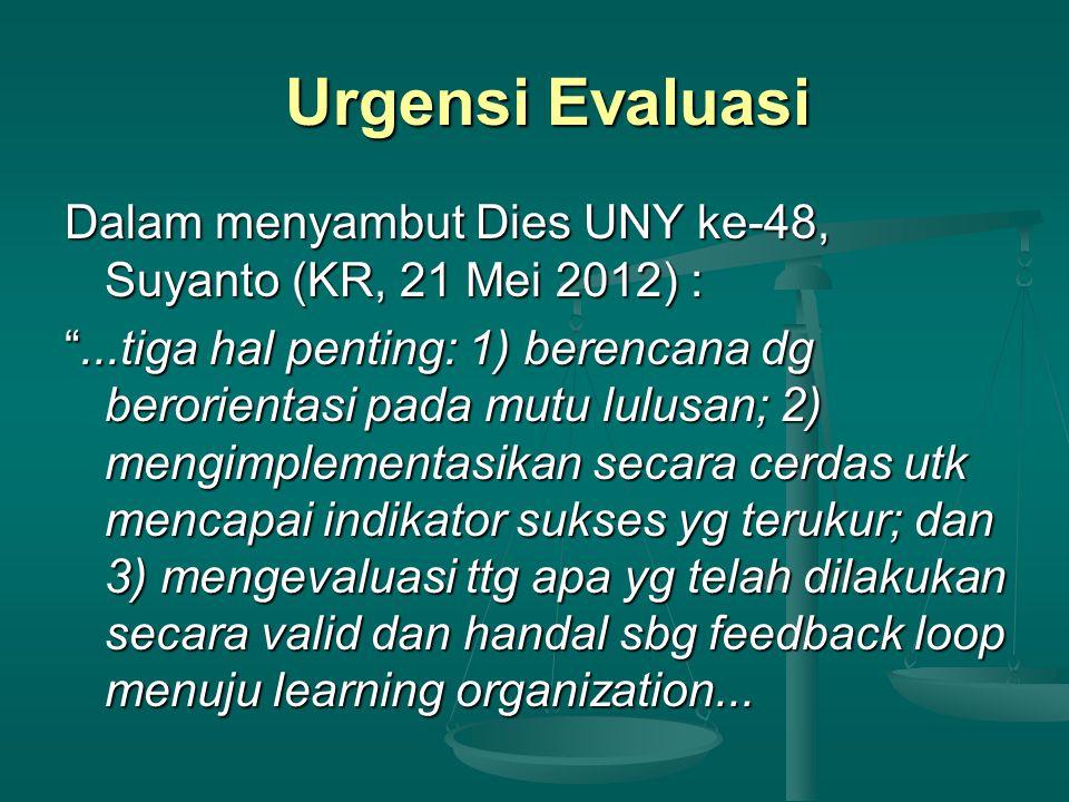 Urgensi Evaluasi