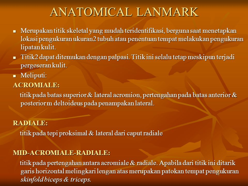 ANATOMICAL LANMARK