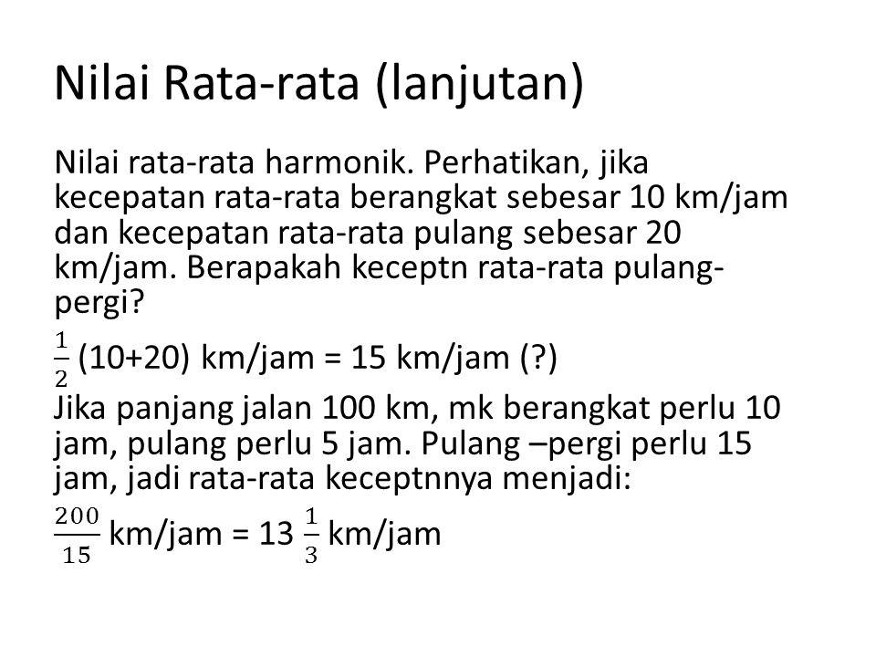 Nilai Rata-rata (lanjutan)