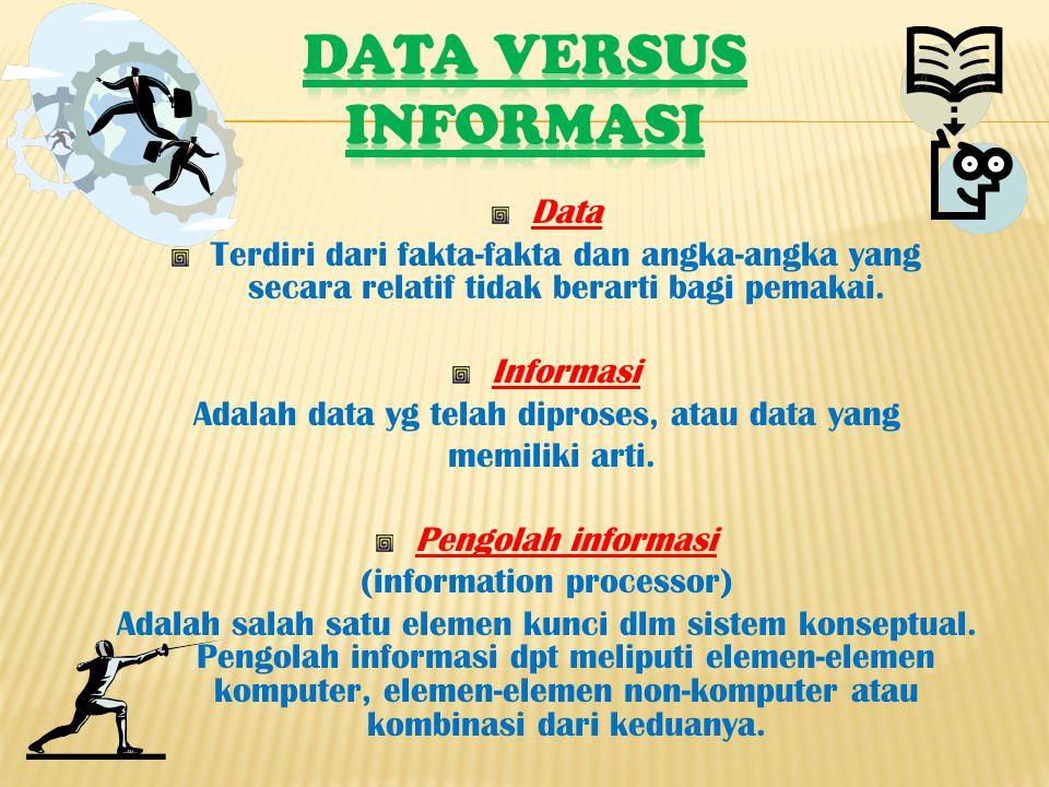 Data versus Informasi Data