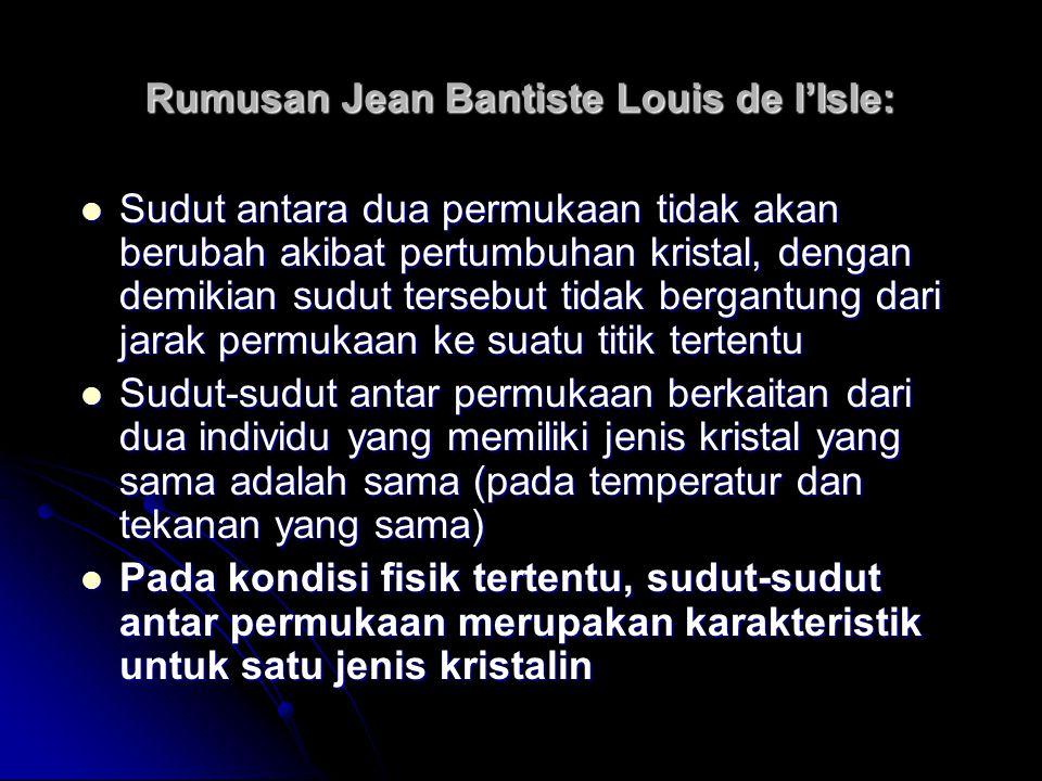 Rumusan Jean Bantiste Louis de l'Isle: