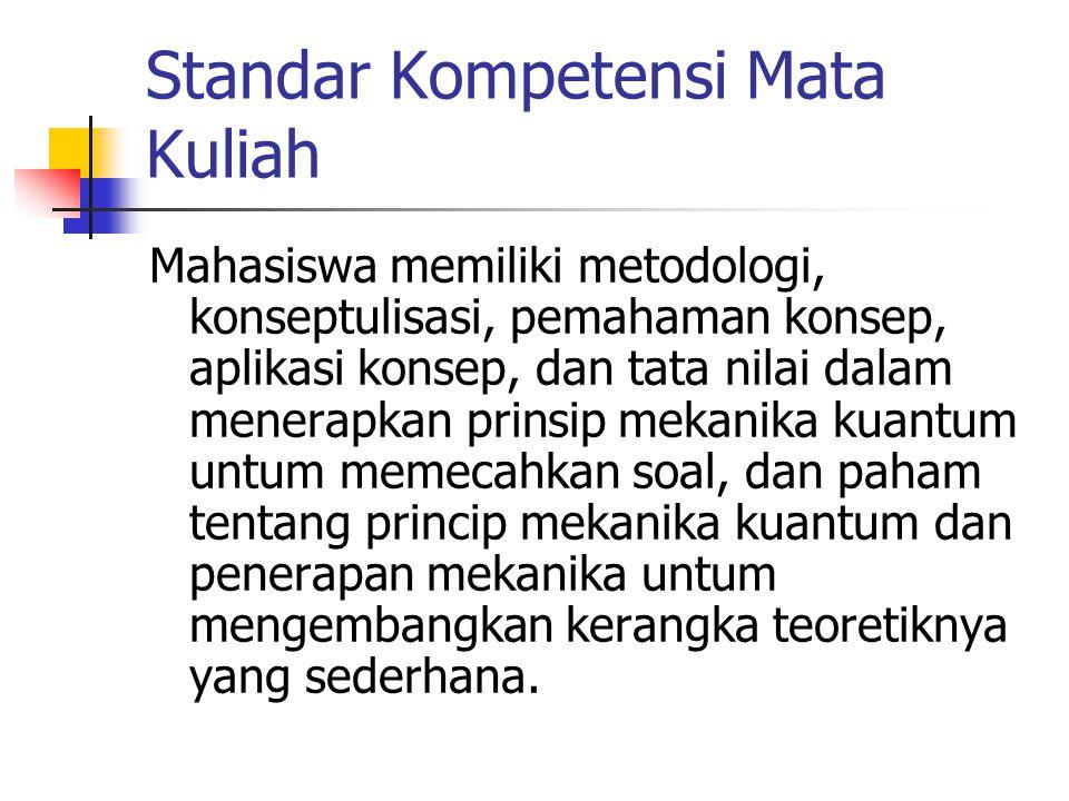 Standar Kompetensi Mata Kuliah