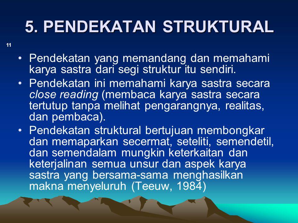 5. PENDEKATAN STRUKTURAL