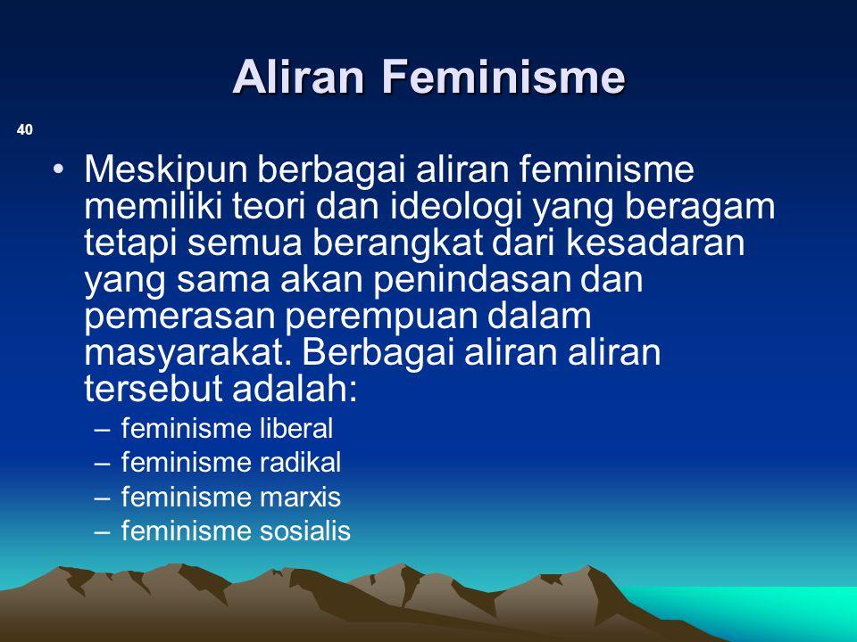 Aliran Feminisme