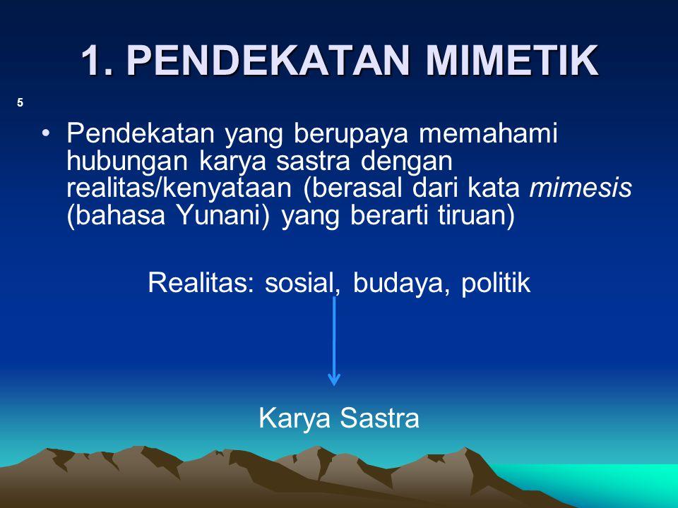 Realitas: sosial, budaya, politik