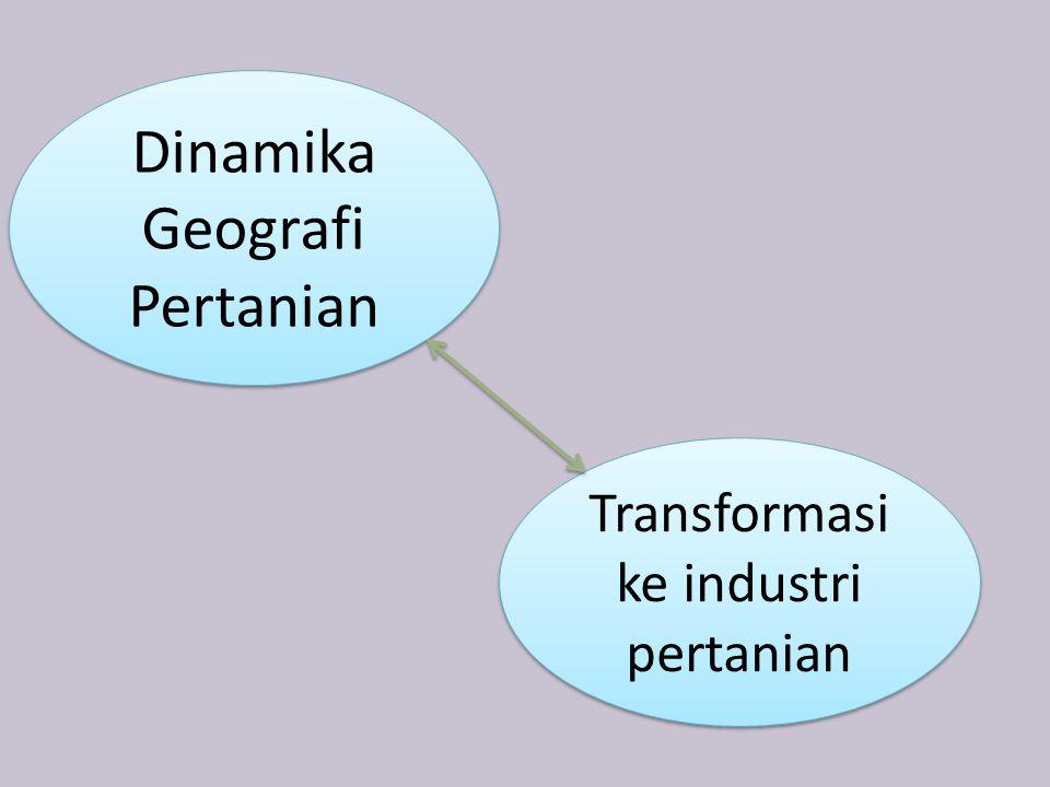 Dinamika Geografi Pertanian