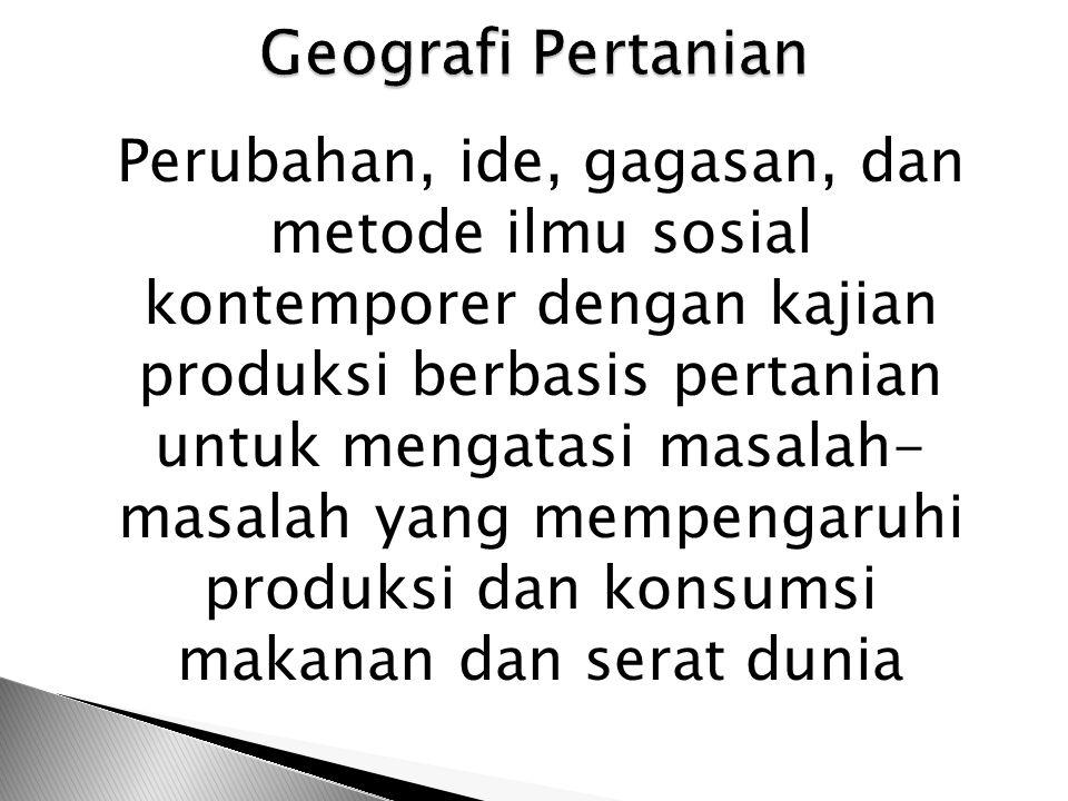 Geografi Pertanian