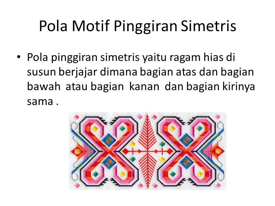 Pola Motif Pinggiran Simetris