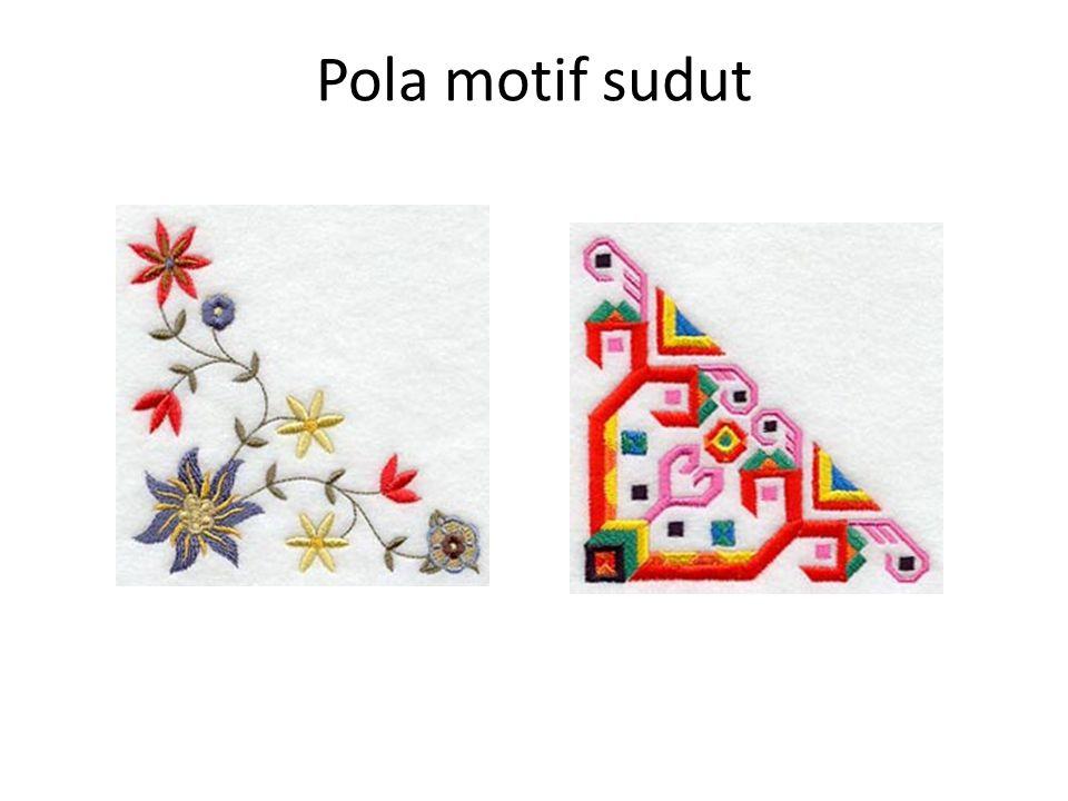 Pola motif sudut