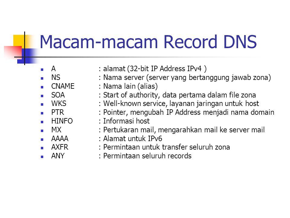 Macam-macam Record DNS