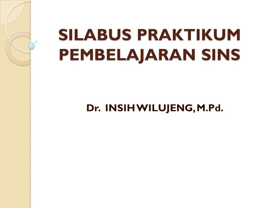 SILABUS PRAKTIKUM PEMBELAJARAN SINS