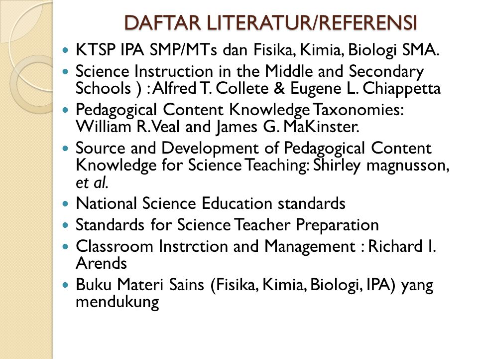 DAFTAR LITERATUR/REFERENSI