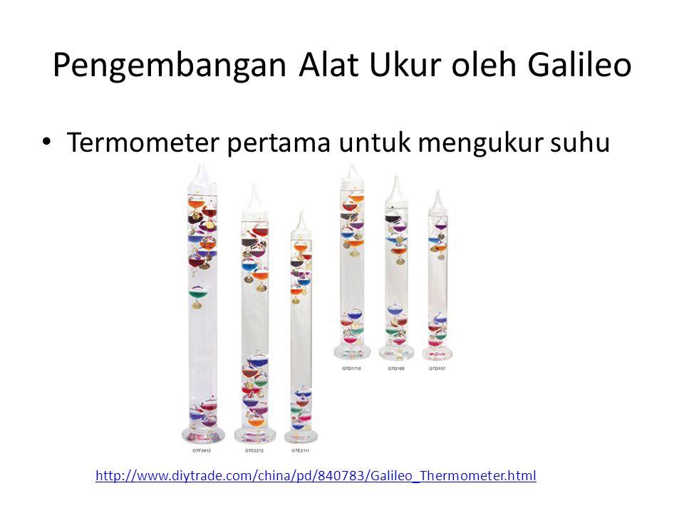 Pengembangan Alat Ukur oleh Galileo