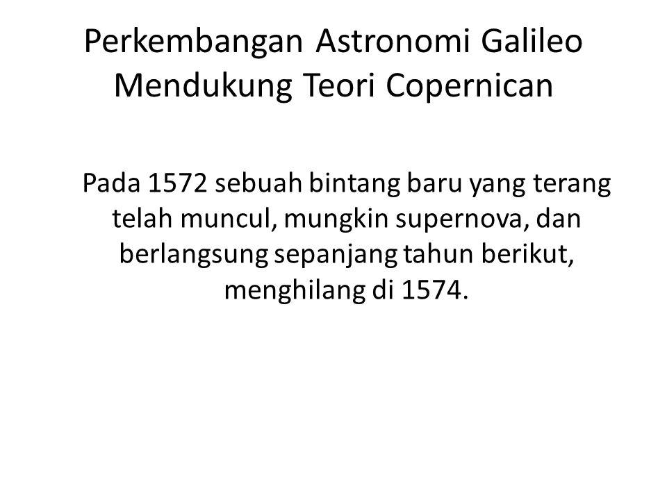 Perkembangan Astronomi Galileo Mendukung Teori Copernican