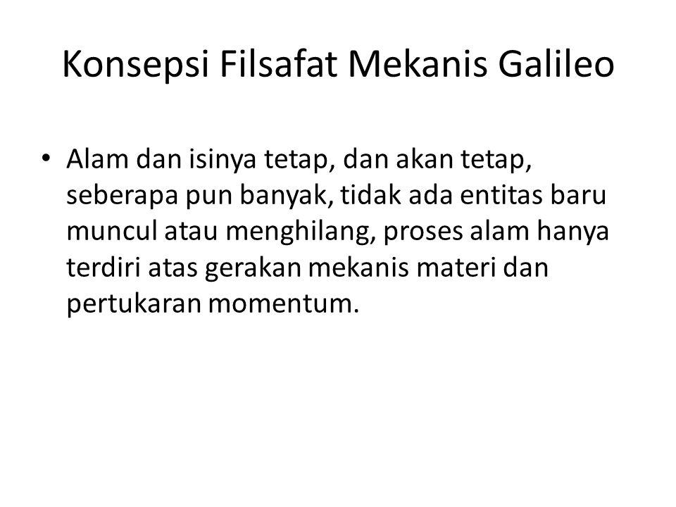Konsepsi Filsafat Mekanis Galileo