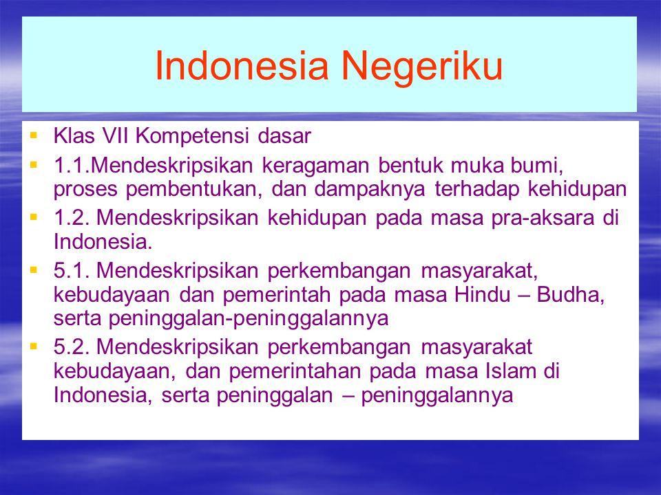 Indonesia Negeriku Klas VII Kompetensi dasar