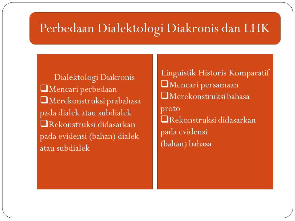 Perbedaan Dialektologi Diakronis dan LHK