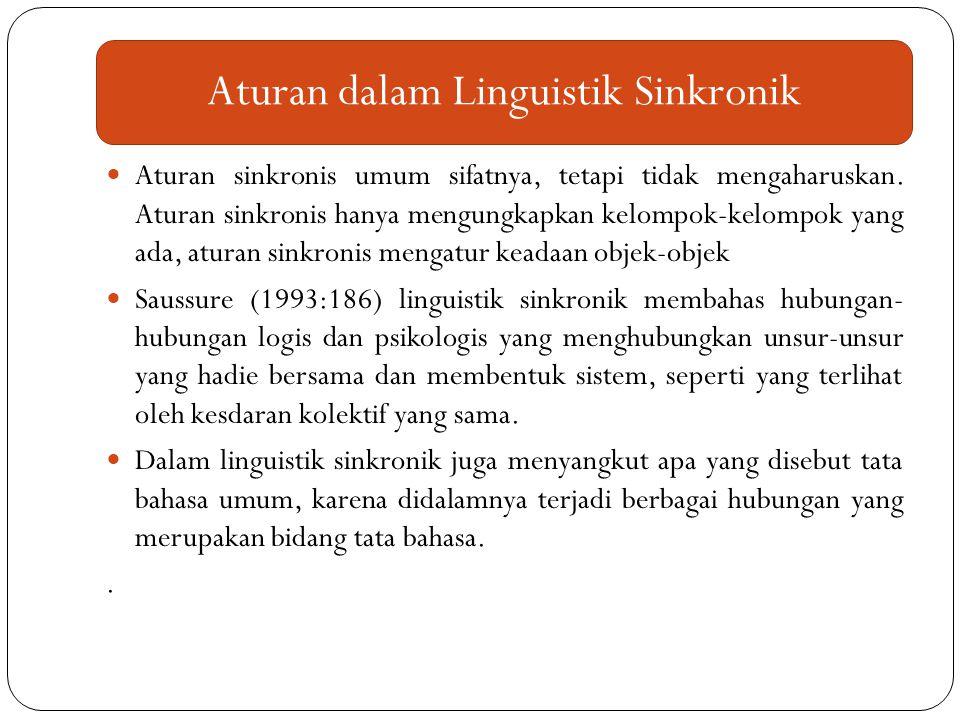 Aturan dalam Linguistik Sinkronik