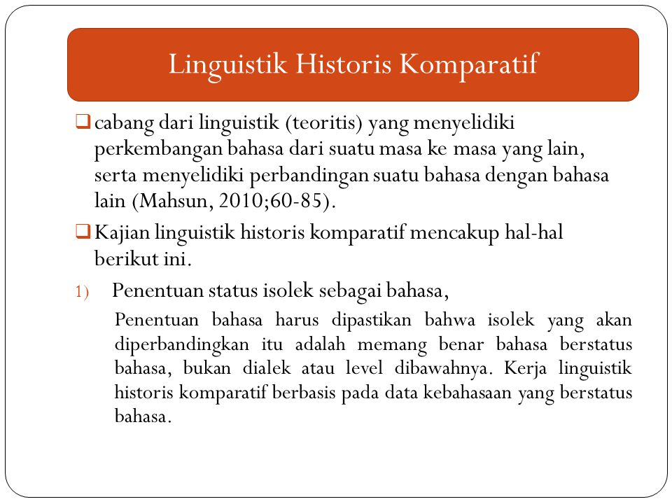 Linguistik Historis Komparatif