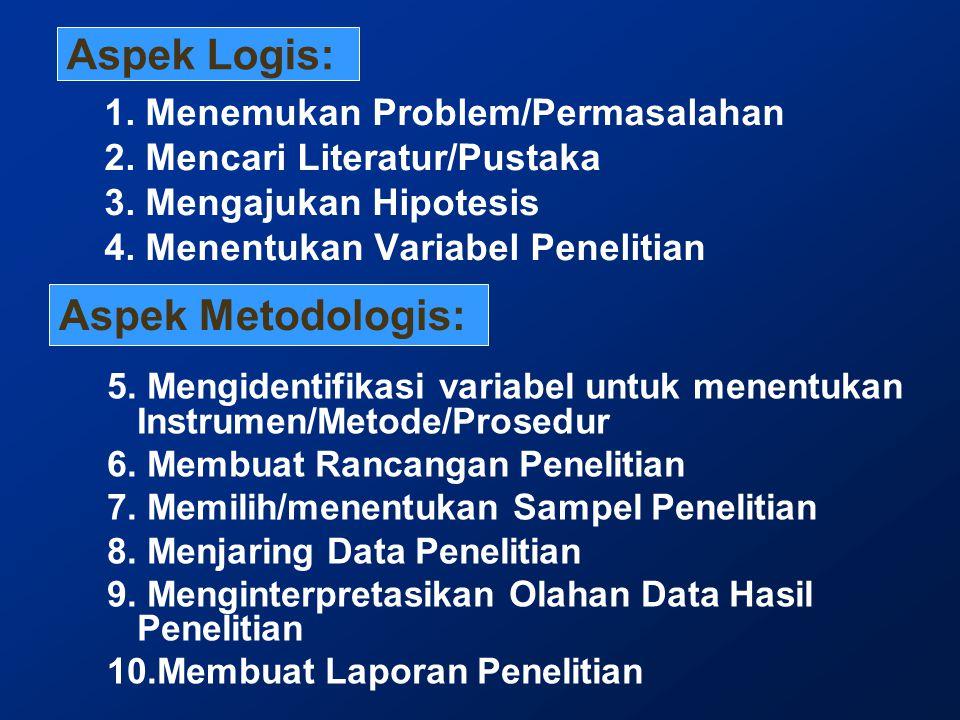 Aspek Logis: Aspek Metodologis: