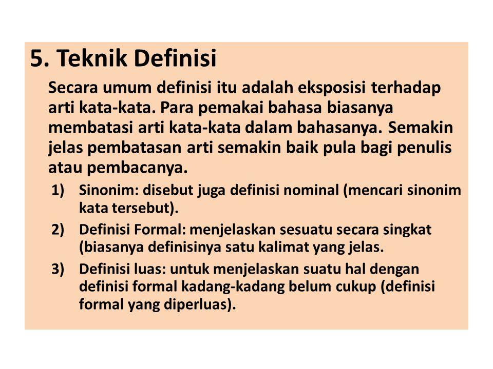 5. Teknik Definisi