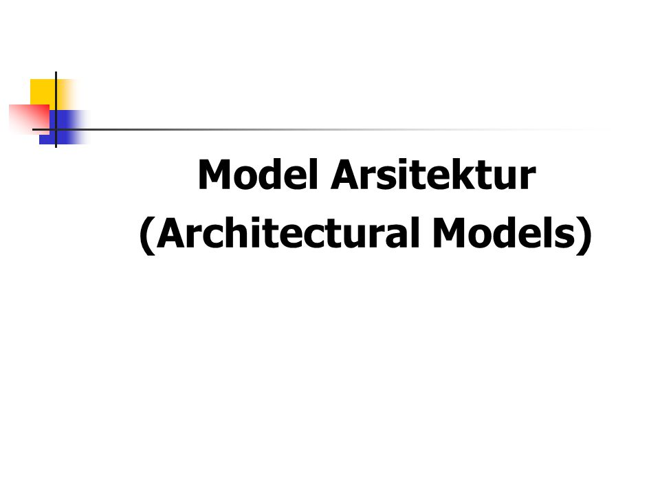 (Architectural Models)