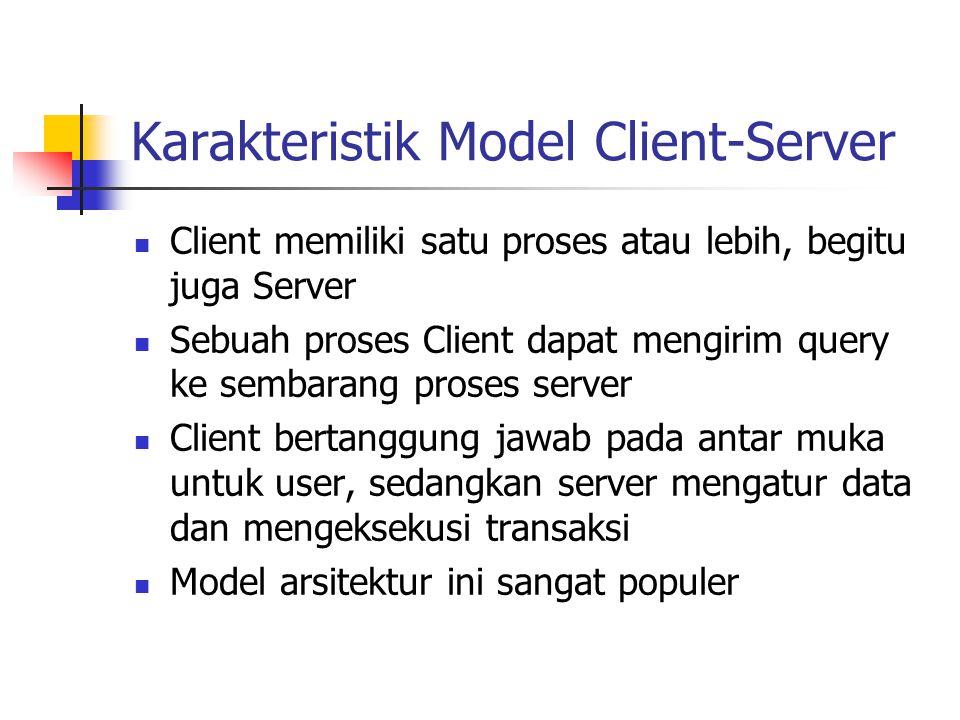 Karakteristik Model Client-Server