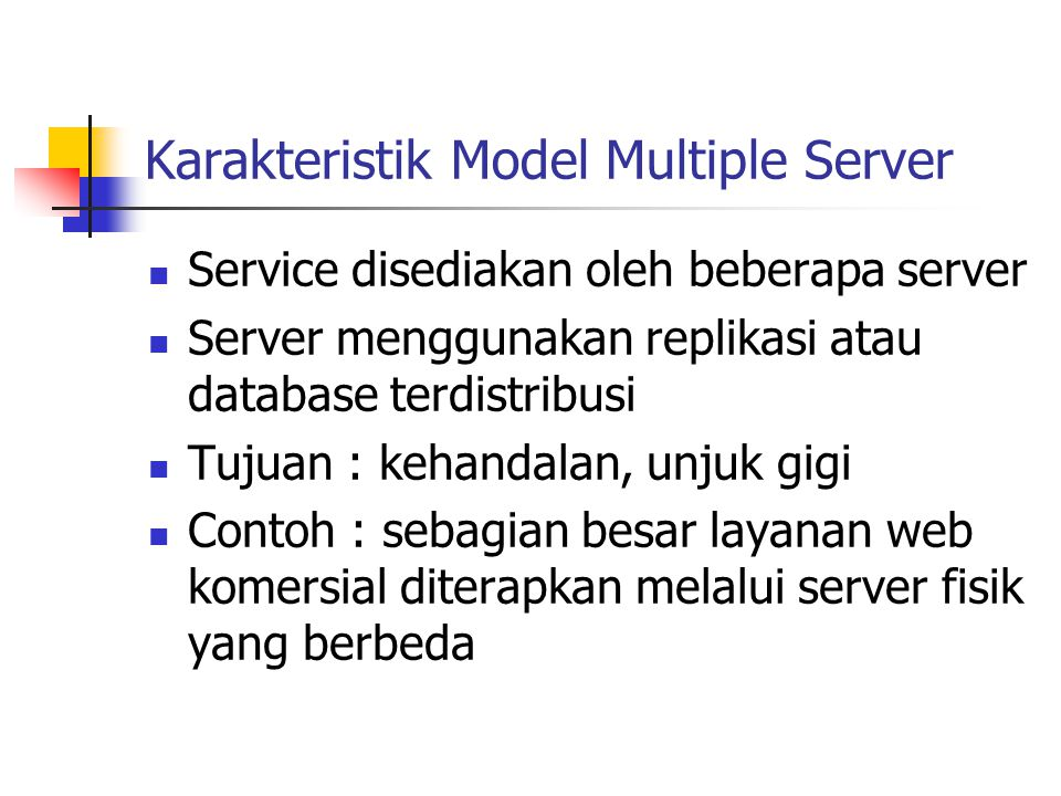 Karakteristik Model Multiple Server