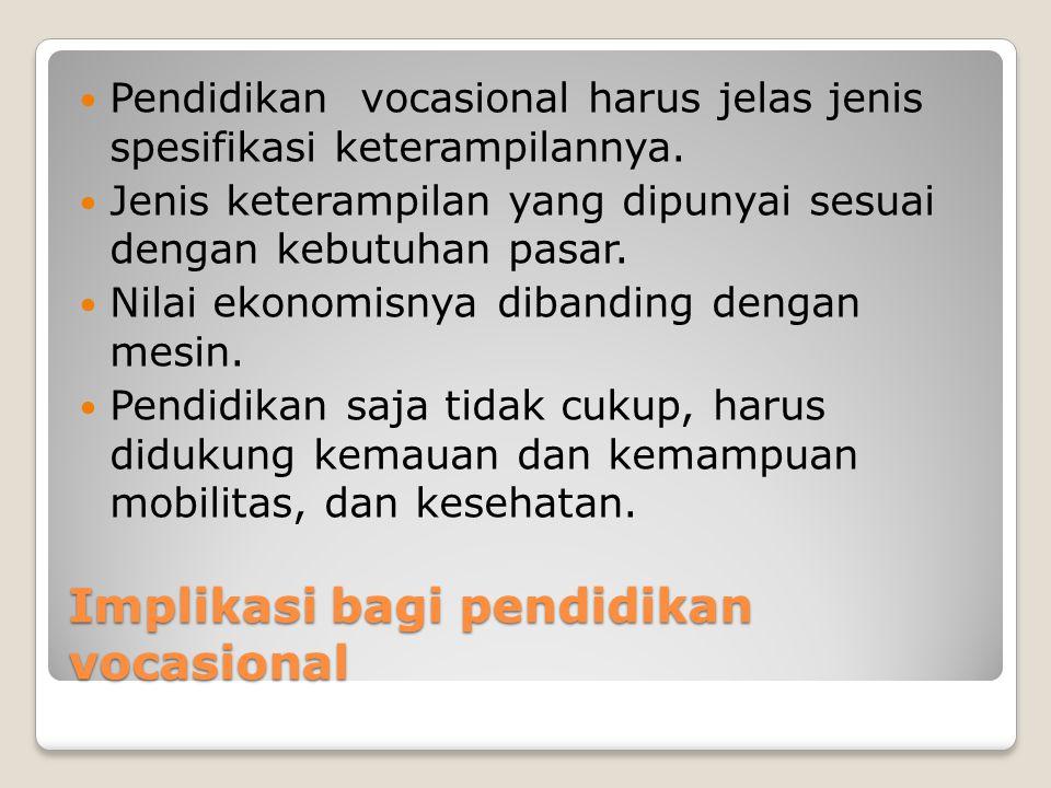 Implikasi bagi pendidikan vocasional