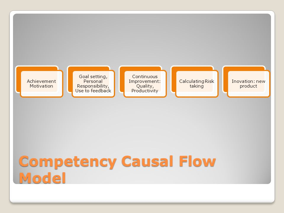 Competency Causal Flow Model