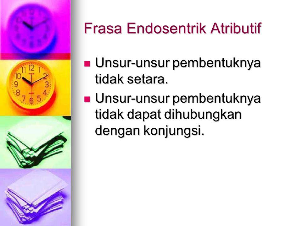 Frasa Endosentrik Atributif