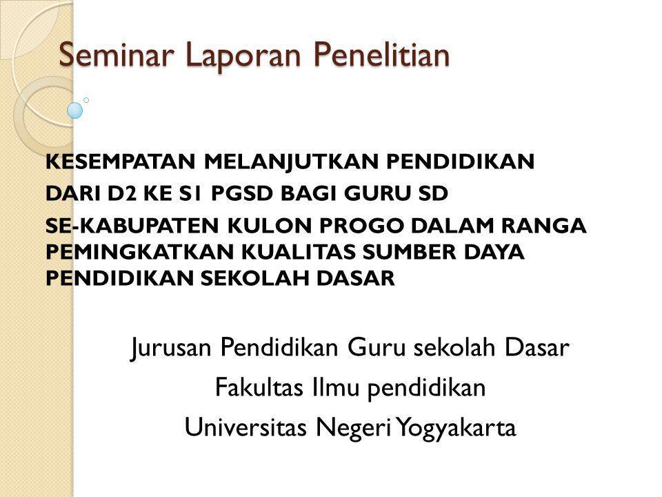 Seminar Laporan Penelitian