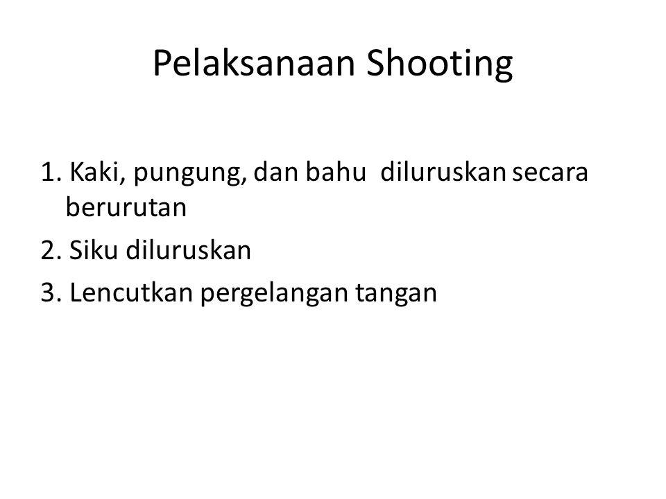 Pelaksanaan Shooting 1. Kaki, pungung, dan bahu diluruskan secara berurutan 2.
