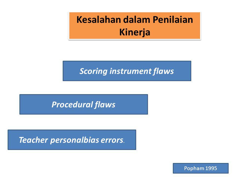 Kesalahan dalam Penilaian Kinerja Scoring instrument flaws