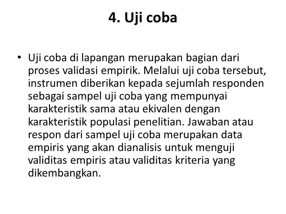 4. Uji coba