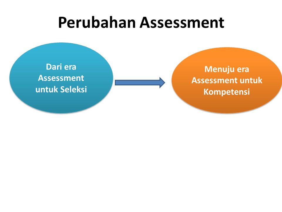 Perubahan Assessment Dari era Assessment untuk Seleksi