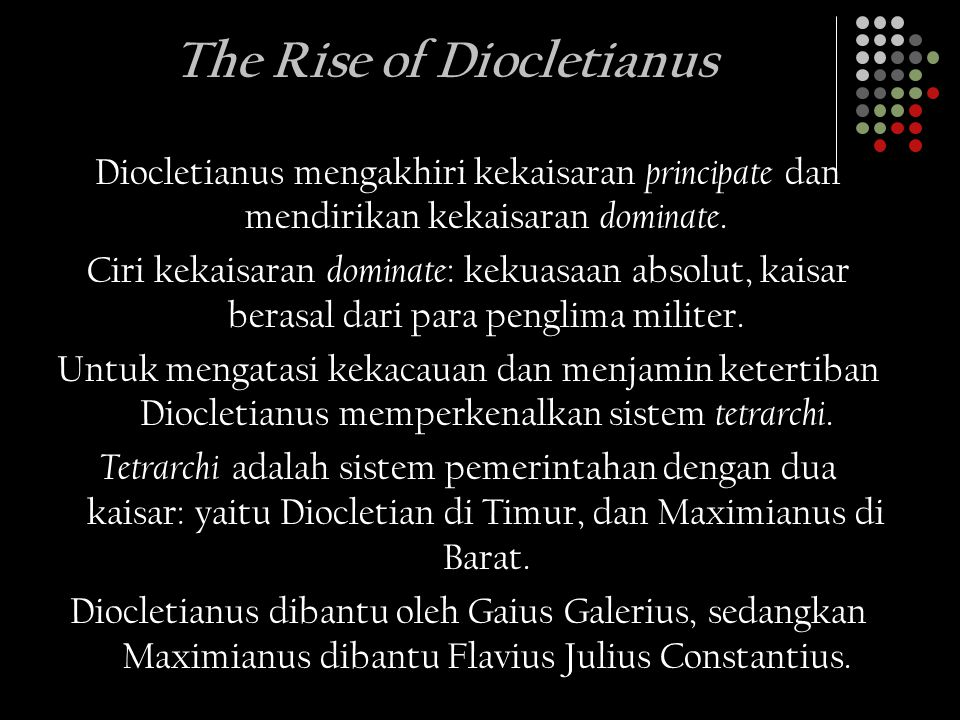 The Rise of Diocletianus