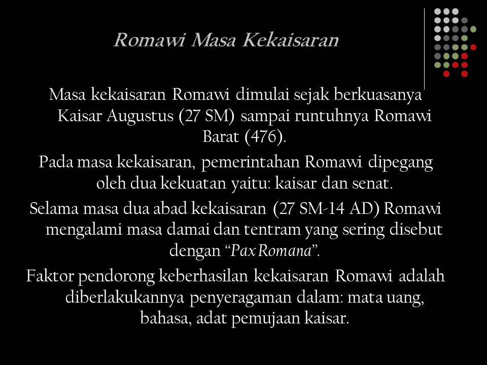 Romawi Masa Kekaisaran