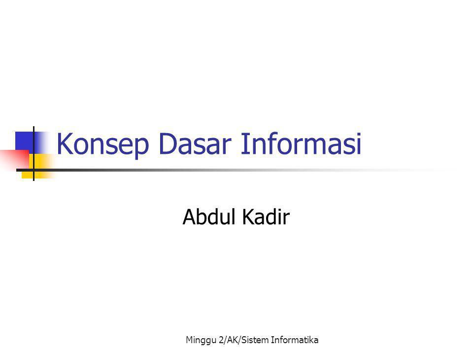 Konsep Dasar Informasi