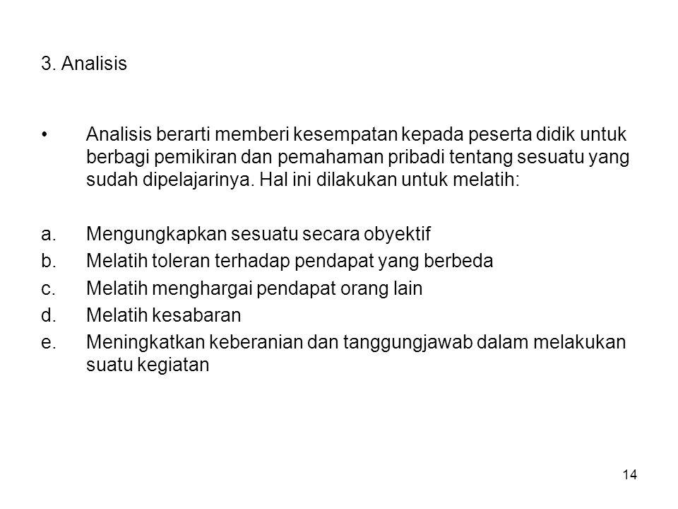 3. Analisis
