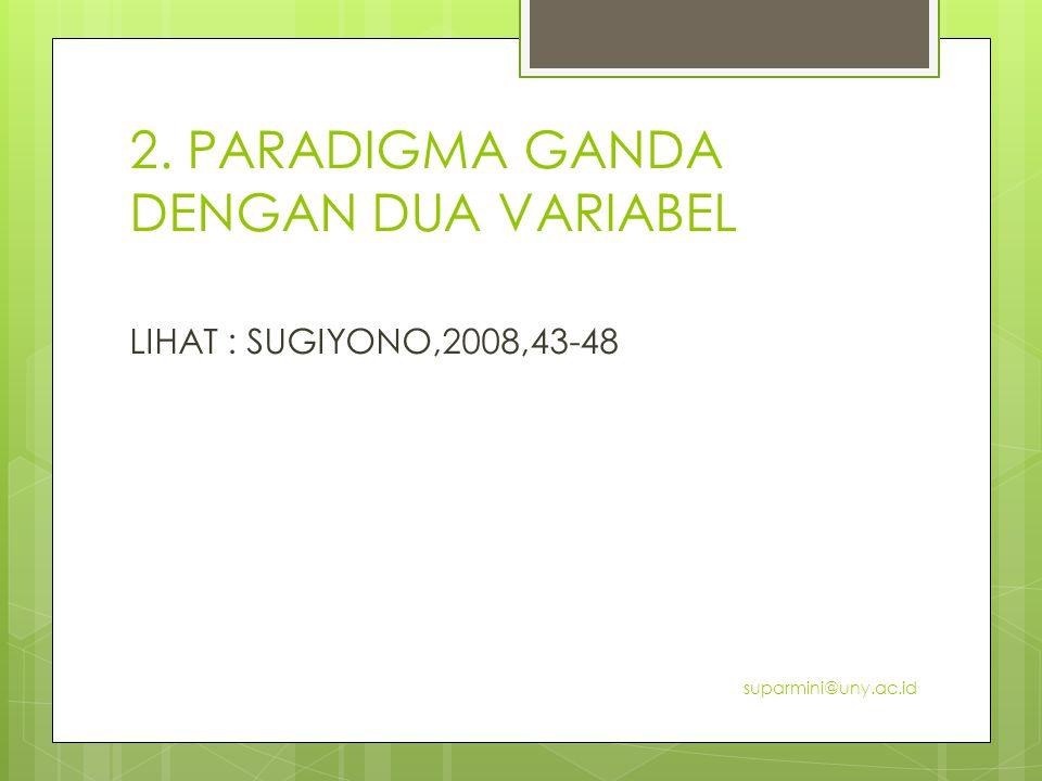 2. PARADIGMA GANDA DENGAN DUA VARIABEL