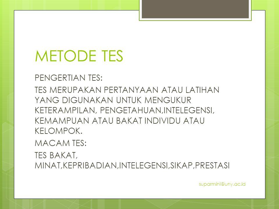METODE TES