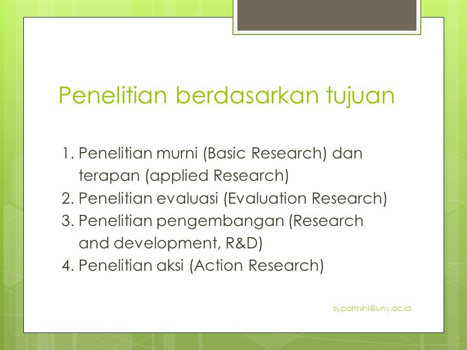 Penelitian berdasarkan tujuan