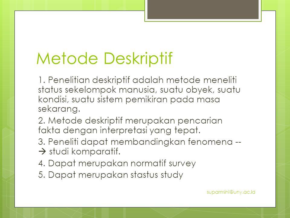 Metode Deskriptif