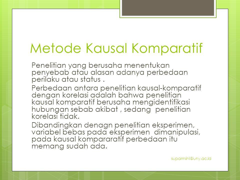 Metode Kausal Komparatif