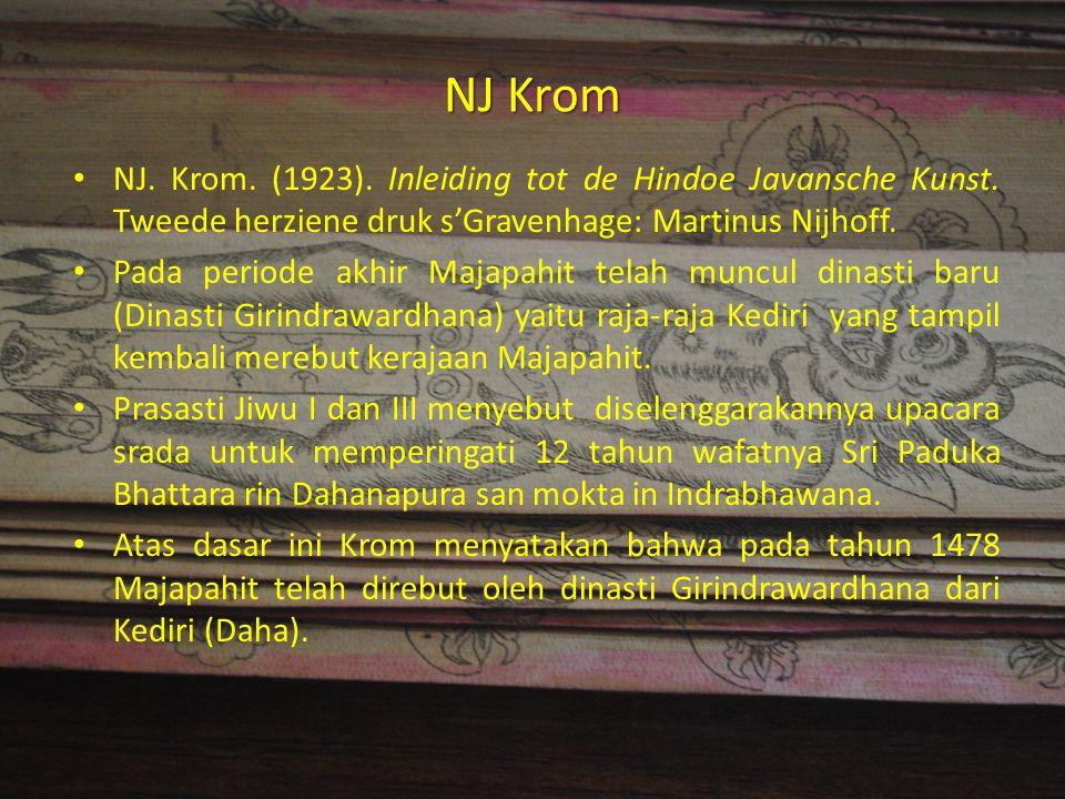 NJ Krom NJ. Krom. (1923). Inleiding tot de Hindoe Javansche Kunst. Tweede herziene druk s'Gravenhage: Martinus Nijhoff.