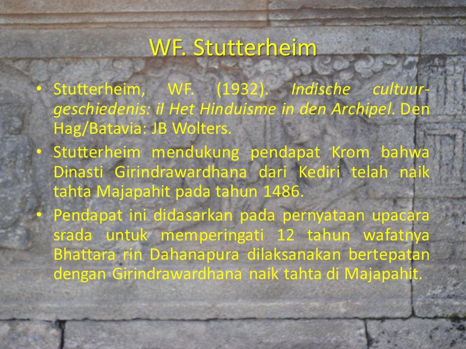 WF. Stutterheim Stutterheim, WF. (1932). Indische cultuur- geschiedenis: iI Het Hinduisme in den Archipel. Den Hag/Batavia: JB Wolters.