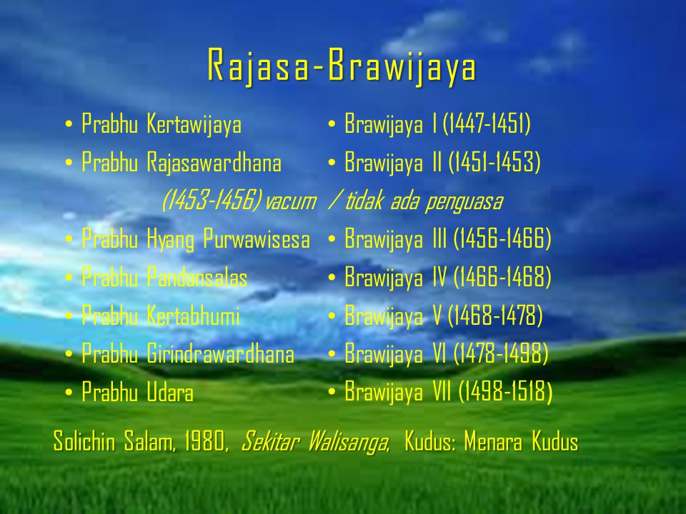 Rajasa-Brawijaya Prabhu Kertawijaya Prabhu Rajasawardhana